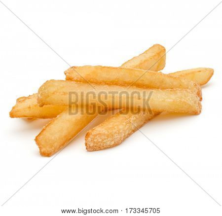 French Fried Potatoes isolated on white background