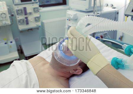 Nursing care of patient in ICU ward