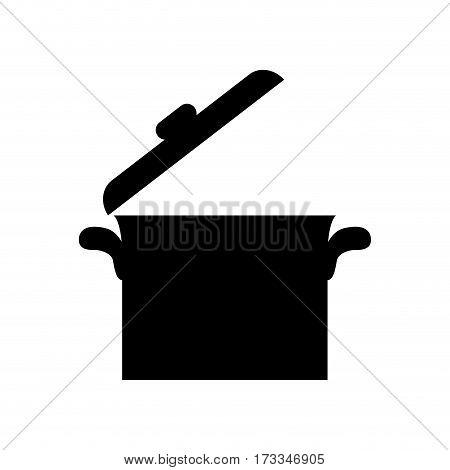 Kitchen saucepan cookware icon vector illustrration graphic design