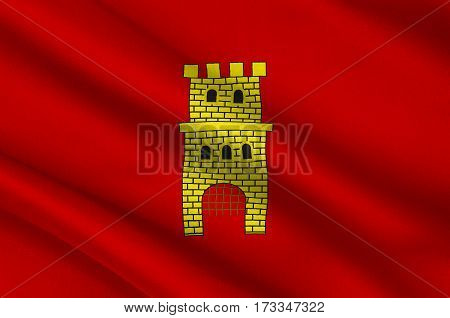 Flag of Middelburg is a municipality and a city in the south-western Netherlands and the capital of the province of Zeeland. 3d illustration