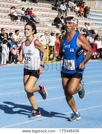 CAGLIARI, ITALY - November 4, 2012: 5th Half Marathon - 4th memorial Delio Serra - Sardinia