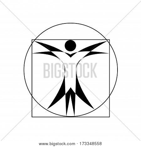 Vector concept Leonardo da Vinci, isolated illustration on white