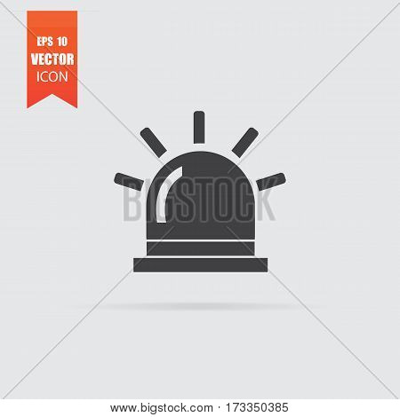 Flasher Icon In Flat Style Isolated On Grey Background.