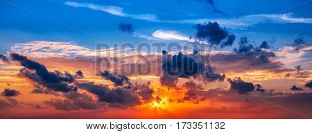 Sunset, Sunrise Sky Cloudscape, Beautiful Nature Background