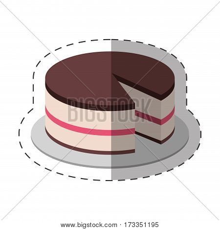 cake dessert food shadow vector illustration eps 10