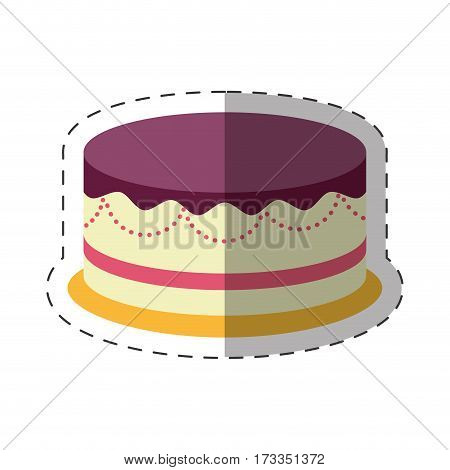 cake dessert party celebration shadow vector illustration eps 10