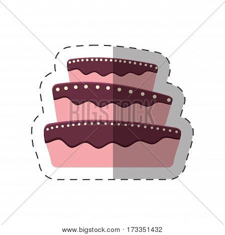 cake dessert baked shadow vector illustration eps 10