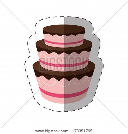 cake dessert delicious sweet shadow vector illustration eps 10