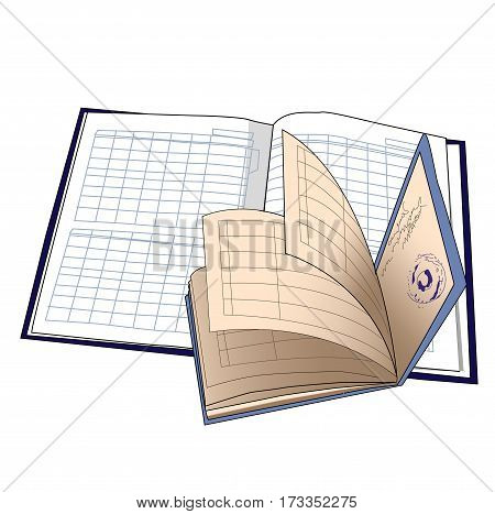 Diary and student s book isolated vector iilustration