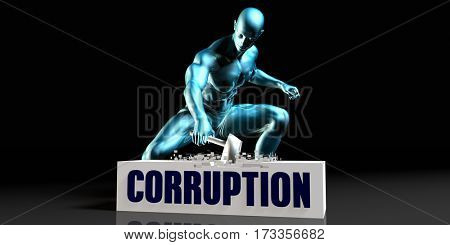 Get Rid of Corruption and Remove the Problem 3D Illustration Render