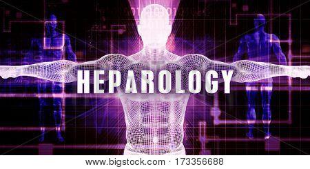 Heparology as a Digital Technology Medical Concept Art 3D Illustration Render