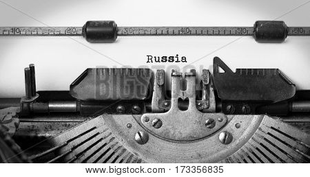 Old Typewriter - Russia