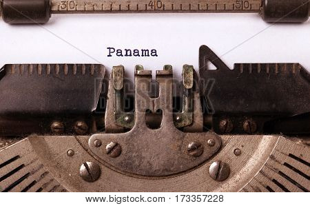 Old Typewriter - Panama