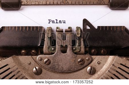 Old Typewriter - Palau