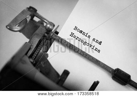 Old Typewriter - Bosnia And Herzegovina