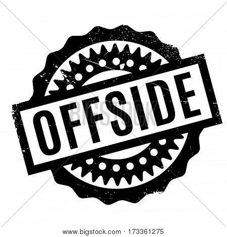 Offside rubber stamp. Grunge design with dust scratches. Effects can be easily removed for a clean, crisp look. Color is easily changed.