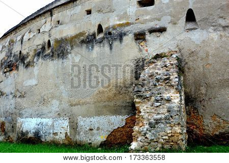 Fortified medieval saxon church Codlea, the largest in the Burzenland historic region, Transylvania, Romania. The city of Codlea is believed to have been also founded by Germans. poster