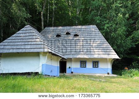 Ancient Mud Hut In Forest