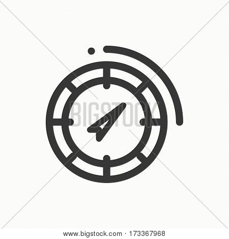 Compass line simple icon. Weather symbols. Windrose. Design element. Template for mobile app, web and widgets. Vector linear icon. Isolated. Flat pictogram sign. Logo illustration