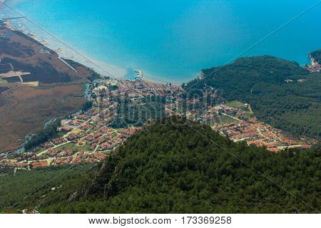 The view from the peak load of Akyaka town