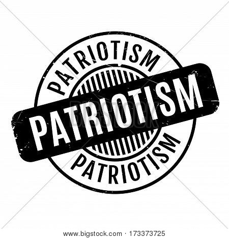 Patriotism rubber stamp. Grunge design with dust scratches. Effects can be easily removed for a clean, crisp look. Color is easily changed.