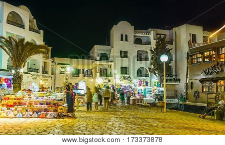 The Tourist Market In El Kantaoui