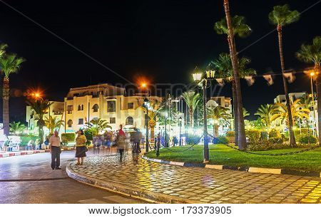 The Central Square Of El Kantaoui