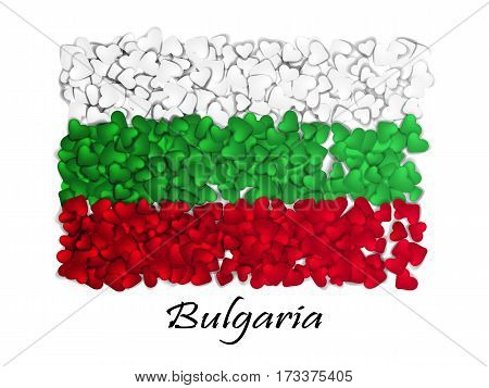 Love Bulgaria. Flag Heart Glossy. With Love From Bulgaria. Made In Bulgaria. Bulgaria National Indep