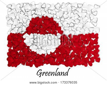 Love Greenland. Flag Heart Glossy. With Love From Greenland. Made In Greenland. Greenland National I