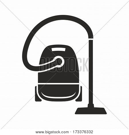 Vacuum cleaner. Vector icon isolated on white background.