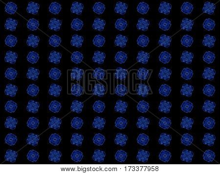 Texture With Rendering Abstract Fractal Blue Pattern