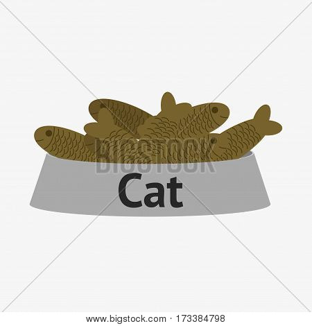 Cat Bowl With Fish