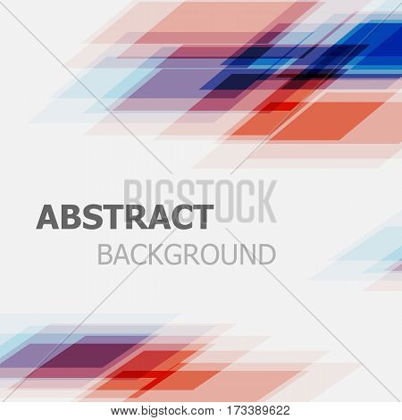 Abstract blue and red business straight line background, stock vector