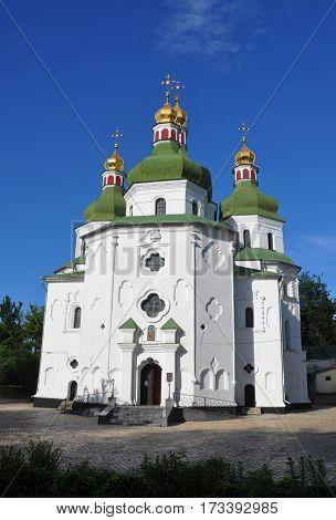 St Nicholas Church in Nizhyn Ukraine. Ukrainian Baroque or Cossack Baroque or Mazepa baroque