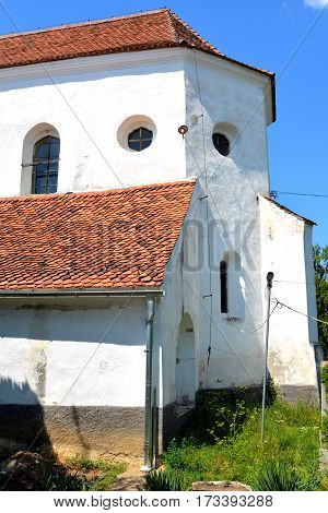 Old fortified saxon evangelic church in Halmeag. In Transylvania there are many saxon churches. This church is 800 years old