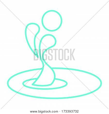 a simple thin line aqua icon vector