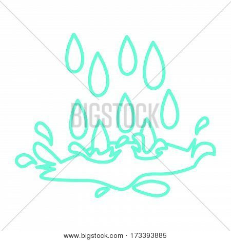 a simple thin line rain icon vector