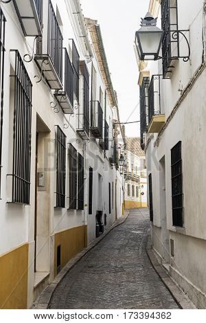 Cordoba (Andalucia Spain): old typical street in the Juderia