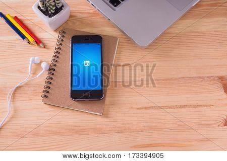 Chiangmai,thailand - June 11, 2016 : Brand New Apple Iphone Disp