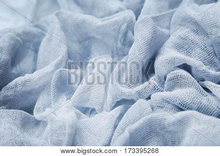 The Grey gauze fabric background, close up