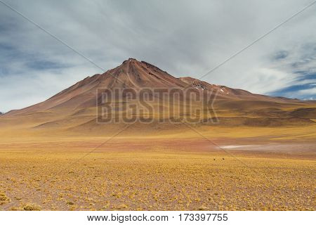 Volcano in the Atacama desert Altiplano Bolivia
