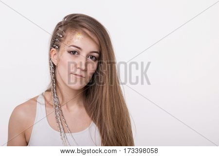 Portrait Of A Nice Girl With Long Hair