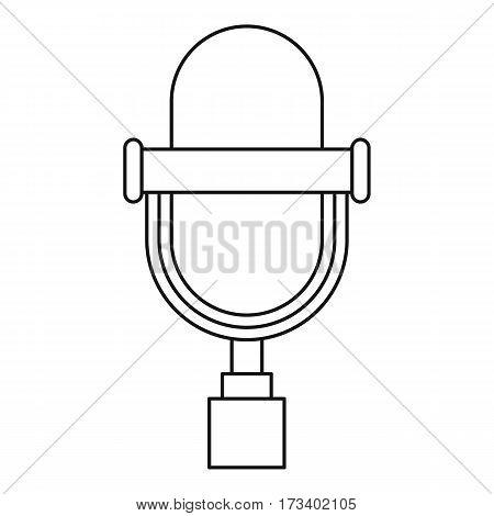 Vintage microphone icon. Outline illustration of vintage microphone vector icon for web