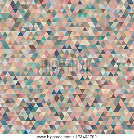 Abstract Seamless Pattern with Colorful Tender Triangles.