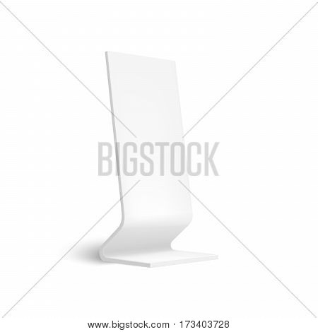 Realistic 3D outdoor lightbox advertising. Illustration isolated on white background. Mock Up template ready for your design. Vector EPS10
