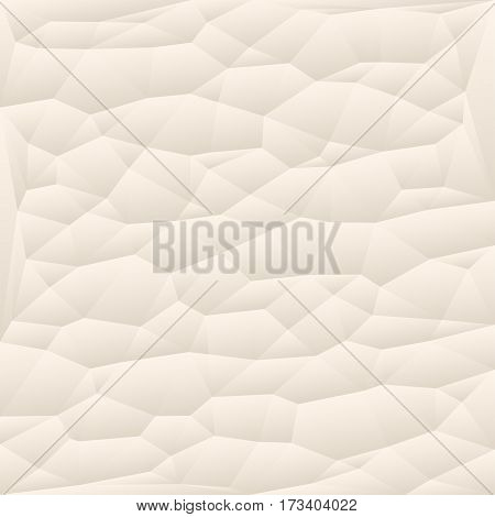 Beige polygon abstract triangulated background vector illustration