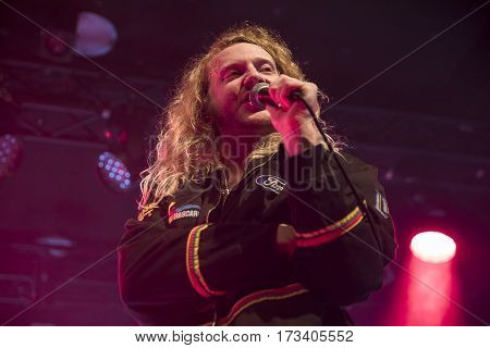 Amsterdam The Netherlands - 24 February 2017 - Concert of American rock band The Orwells at Paradiso Noord - De Tolhuistuin