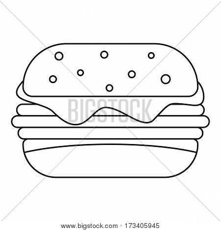 Sandwich icon. Outline illustration of sandwich vector icon for web