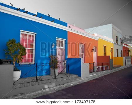 Bo Kaap, district in Cape Town, South Africa. Very famous area in the city centre and popular with the tourist's