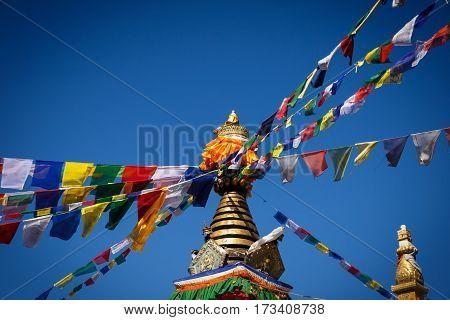 stupa in Thrangu Tashi Yangtse Monastery Namo Buddha Nepal